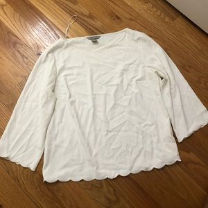 White scallop blouse